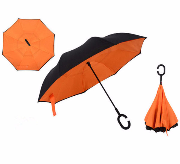 Ultimate Reverse / Inverted Folding Double Layer Protection Umbrella