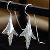Image of Long Flower Drop Earrings