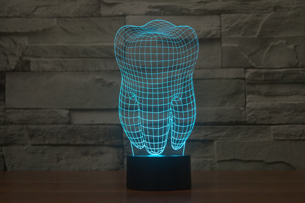 3D Dental Tooth LED Atmospheric Lamp Night Light