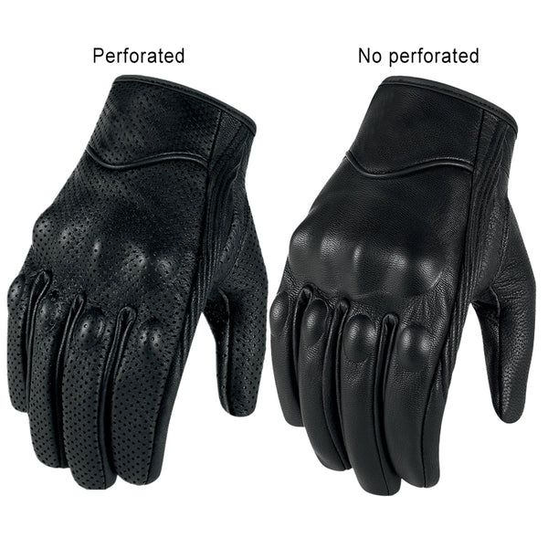 Genuine Goatskin Leather Touch Screen Motorcycle Gloves