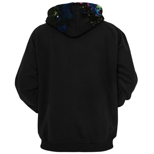 Einstein Space Pipe All Over Graphic Printed Pullover Hoodie