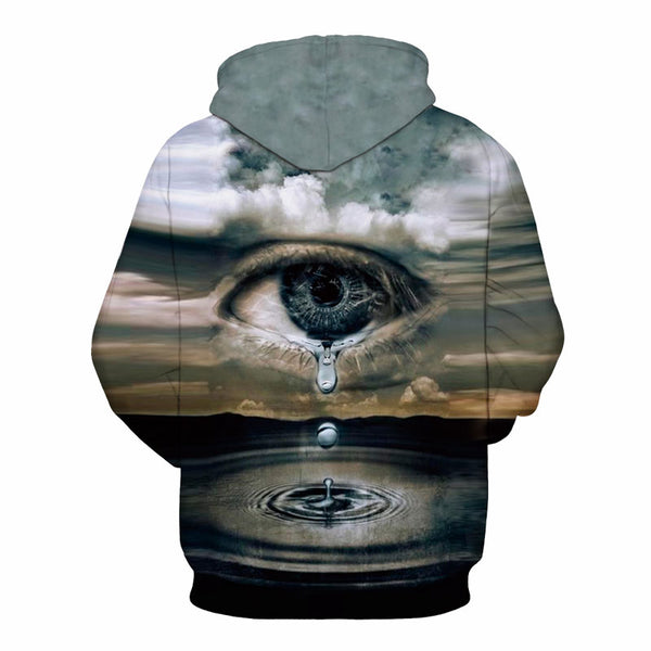 Invisible Universal Eye All-Over Graphic Pullover Hoodie