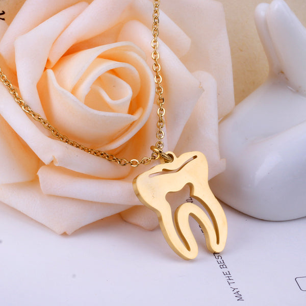 Dental Tooth Pendant Necklace