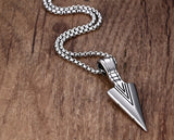 Striking Silver Arrowhead Pendant Necklace