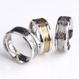 Illustrious Chinese Dragon Scroll Ring - Stainless Steel