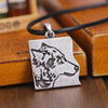 Image of Vintage Wolf Pendant Necklaces (Set of 2) BFF/Couples Wolf Pact Necklace