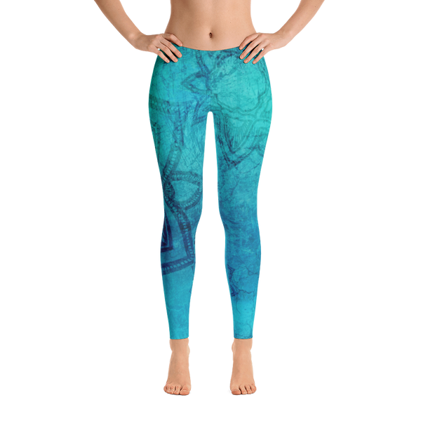 Leggings amber Mandala Leggings Blue Leggings Yoga Leggings