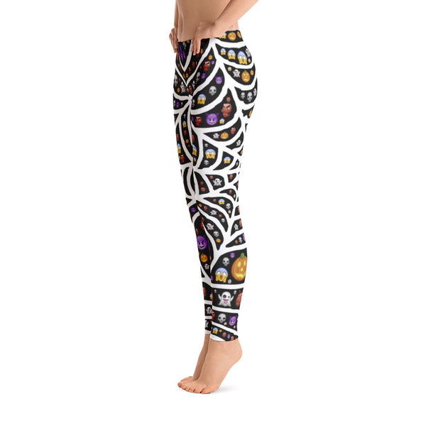 Halloween Exclusive - Emoji Spiderweb Yoga Leggings