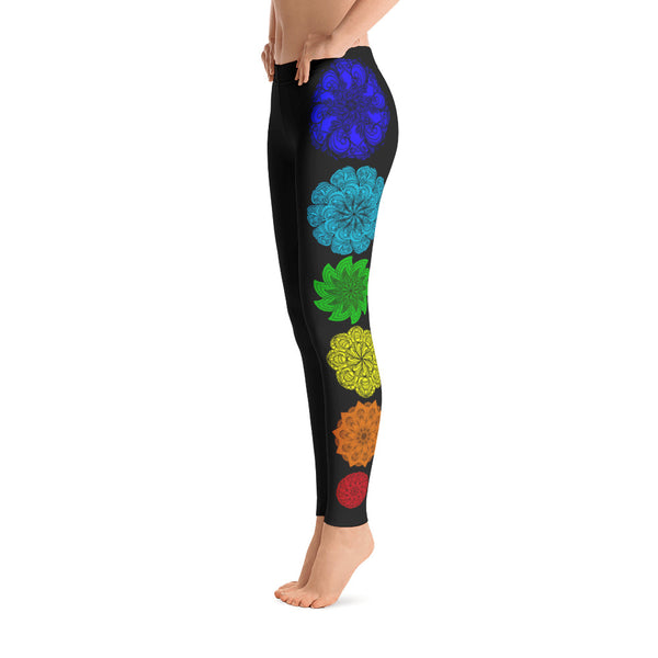 Chakra Leggings Yoga Leggings Workout Leggings Amber Leggings