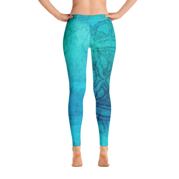 Leggings tribe  Leggings blue Leggings gym Leggings workout