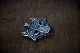 Wolf Head - Nordic Viking Pendant Necklace