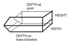 Our stacking basket measurements