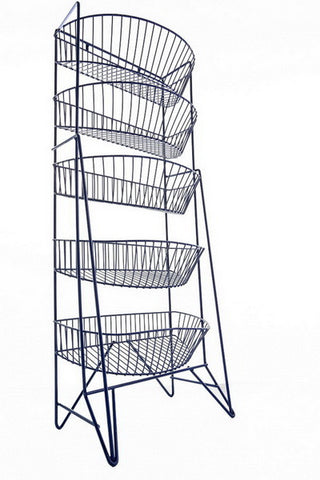 """CHOICE-5"", our Impulse Stand with 5 deep baskets."