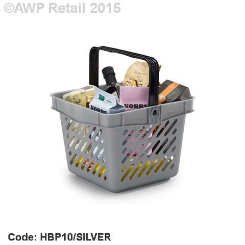 10 Litre Premium Plastic Shopping Basket - Box of 10
