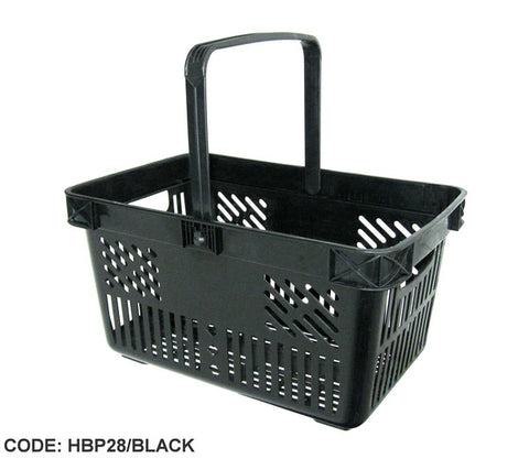 Sale 28 litre plastic shopping baskets - Black - Only £3.50 each.