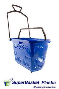 30/35L BLUE trolley basket (as seen in Go-Outdoors)