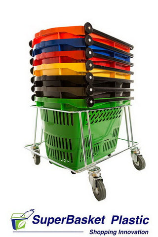 30-35 litre trolley basket stacker
