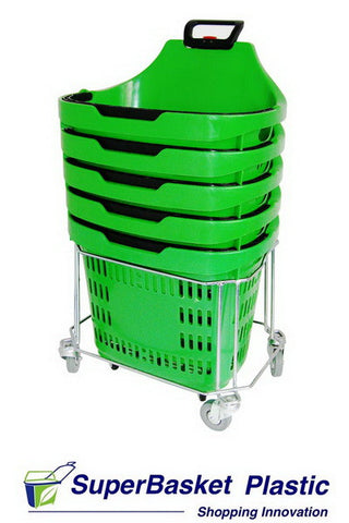 45/50L trolley basket stacker