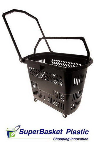 (Box of 10) 55/60L BLACK trolley basket - The M55 (as seen in World Duty Free)