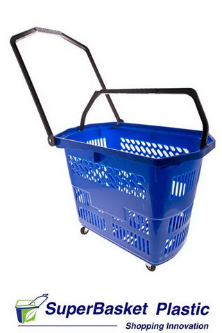 (Box of 10) 55/60L BLUE trolley basket - The M55 (as seen in ALDI)