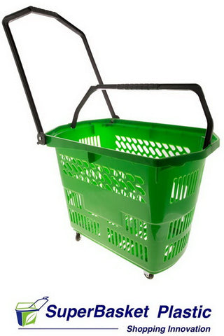 (Box of 10) 55/60L GREEN trolley basket - The M55 (as seen in ASDA)
