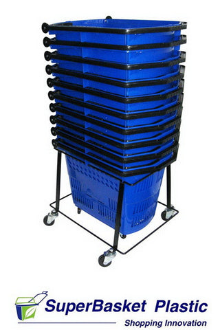 55/60L trolley basket stacker