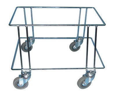 30/35L trolley basket stacker in Zinc