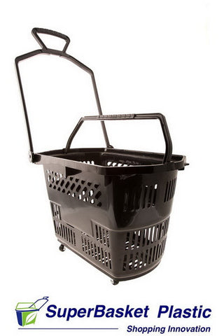 (Box of 10) 30/35L BLACK trolley basket  (as seen in ASDA Living, Halfords, World Duty Free etc)