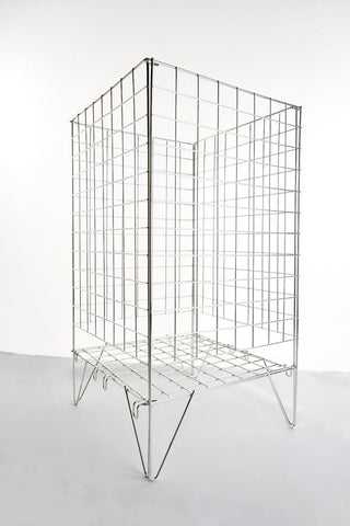 Best-selling wire dump bin - square - fold-flat - adjustable shelf - 100 litres.