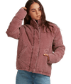 ROXY CROSS THE LINE CORDUROY JACKET - MARSALA