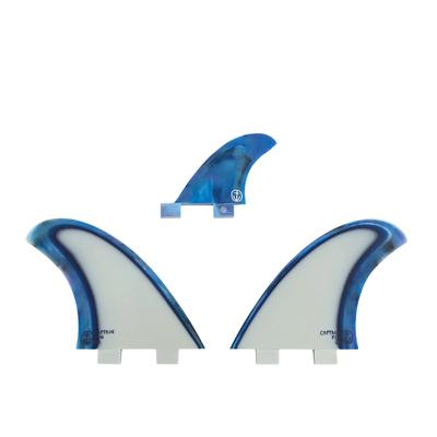 CAPTAIN FIN ACID SPLASH TWIN FINS -BLUE - (TWIN TAB - FCS) - CFF3411804