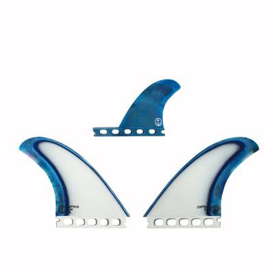 CAPTAIN FIN ACID SPLASH TWIN FINS - BLUE - SINGLE TAB