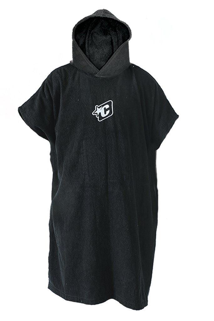 CREATURES PONCHO - HOODED TOWEL MENS BLACK