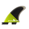 FCS II CARVER PC QUAD REAR FINS - FIBRE GLASS
