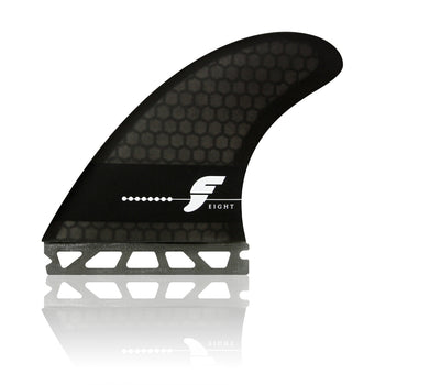 FUTURES F8 HONEYCOMB SMOKE LARGE TRI FIN SET