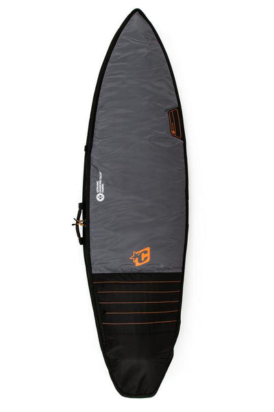CREATURES SHORTBOARD SINGLE TRAVEL COVER DT2.0 - BLACK SILVER