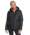 ROXY COAST ROAD HOODED PACKABLE PADDED JACKET - ANTHRACITE