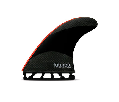FUTURES JOHN JOHN LARGE TECHFLEX RED TRI FIN SET