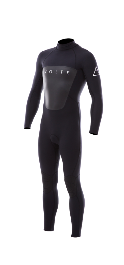 VOLTE PREMIUM MENS 3/2MM B/Z GBS WETSUIT STEAMER BACK ZIP