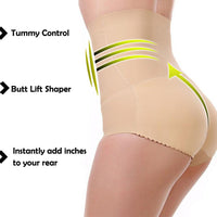 High-Waist Silicone Butt Lifter Panties
