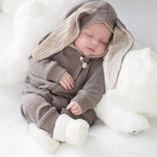Grey Hooded Romper with Ears