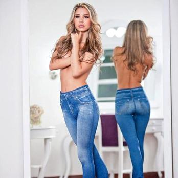 High Waisted Jeggings - Denim Leggings