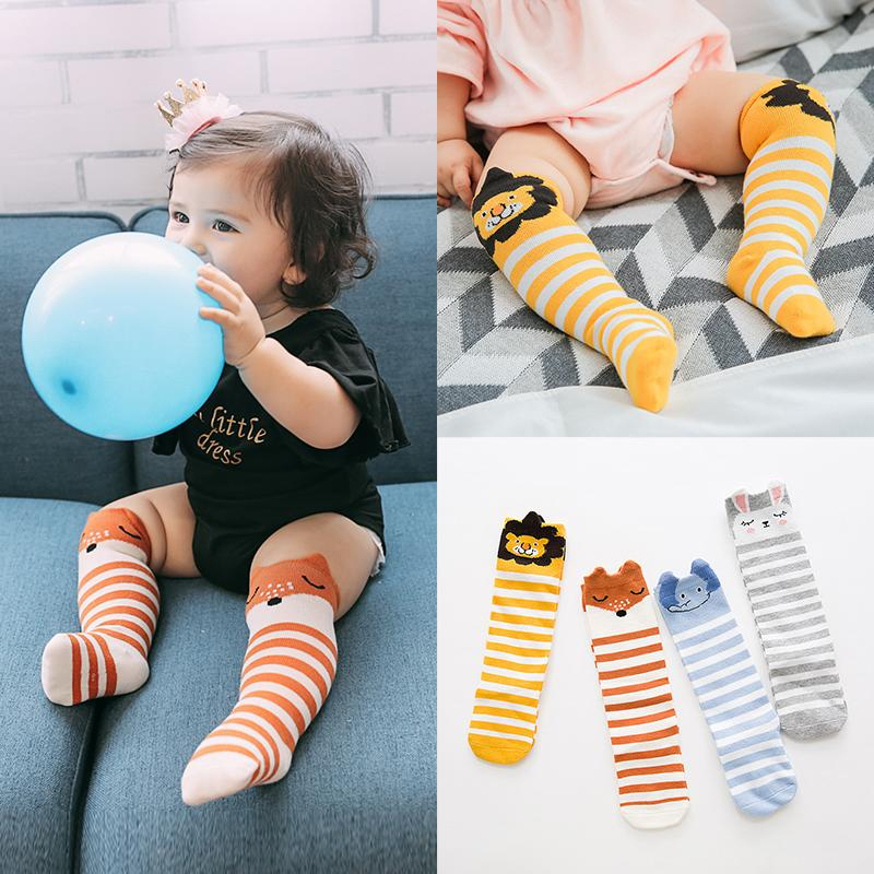 Cute Knee-High Baby Socks