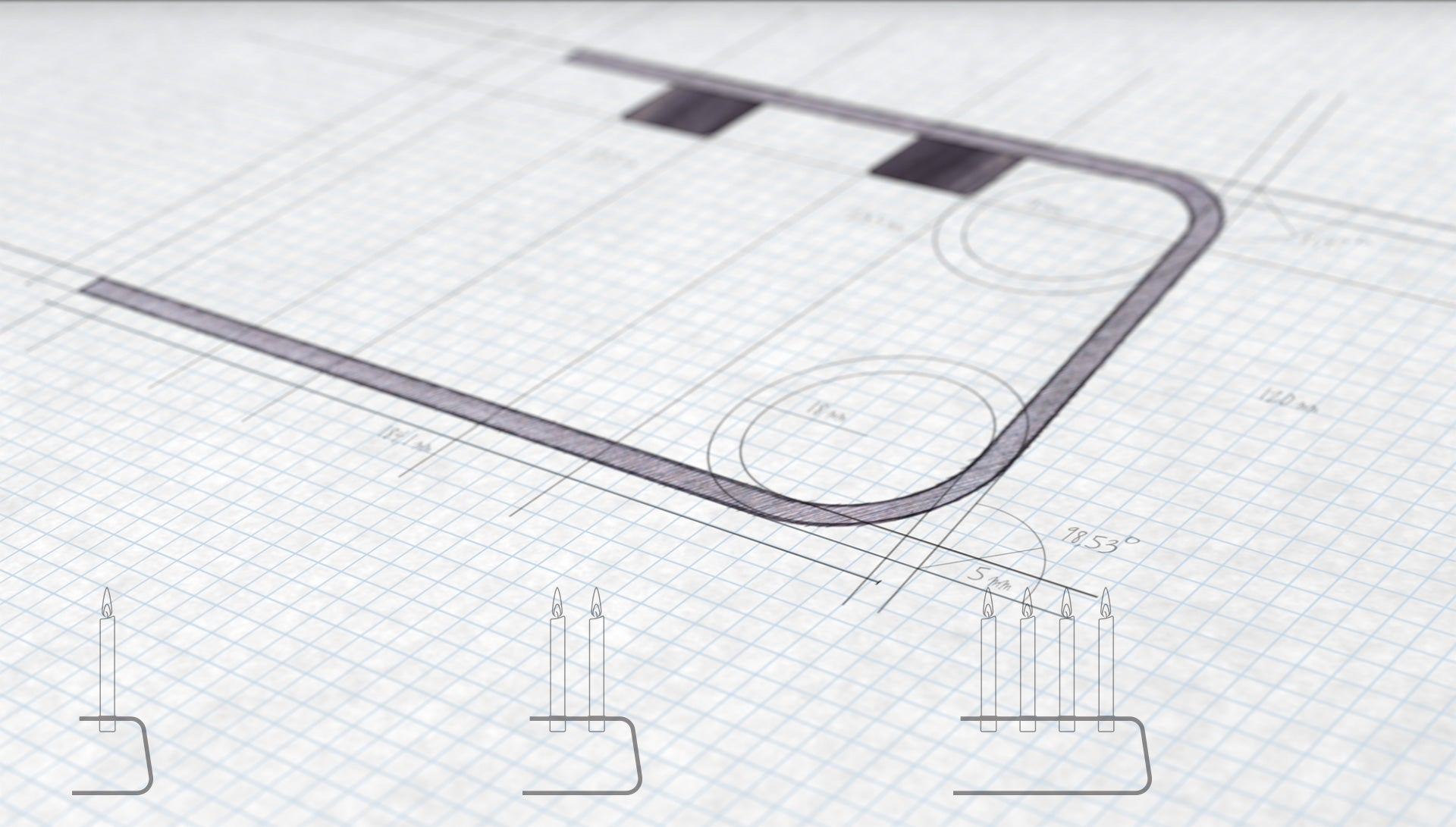 Vnkl 2 sketch and technical drawing with dimentions