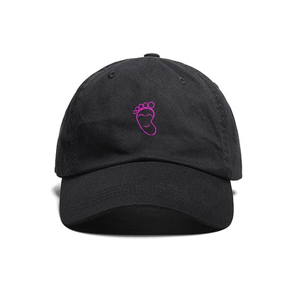 Happy Feet Dad Cap in Black