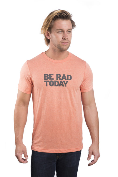 Men's yoga shirt, be rad today