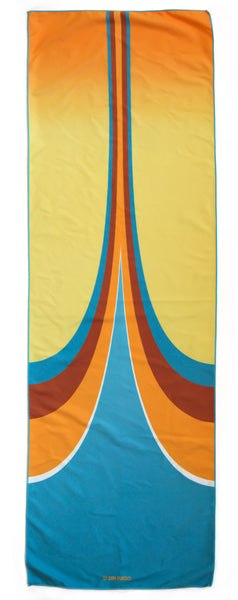hot yoga towel - retro graphic fun grippy sweaty yoga