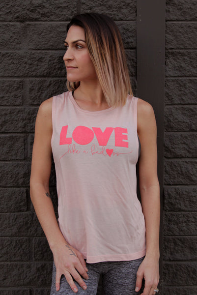 Love Like a Badass Zen Fuego Women's Muscle Tank