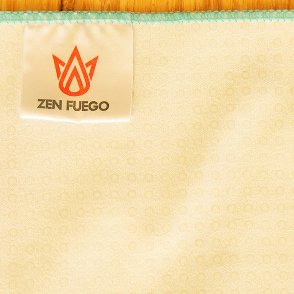 Zen Fuego grip dot microfiber yoga towels - hot yoga