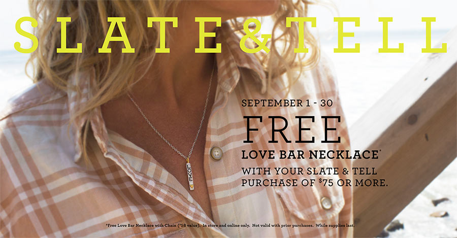 Free Slate & Tell Love Necklace